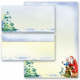 Briefpapier-Sets WINTERZEIT (Variante B) 20-tlg. Set - DL...