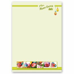 Briefpapier HAPPY EASTER DIN A4 Format 20 Blatt