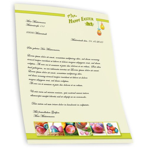 Briefpapier HAPPY EASTER - DIN A5 Format 250 Blatt