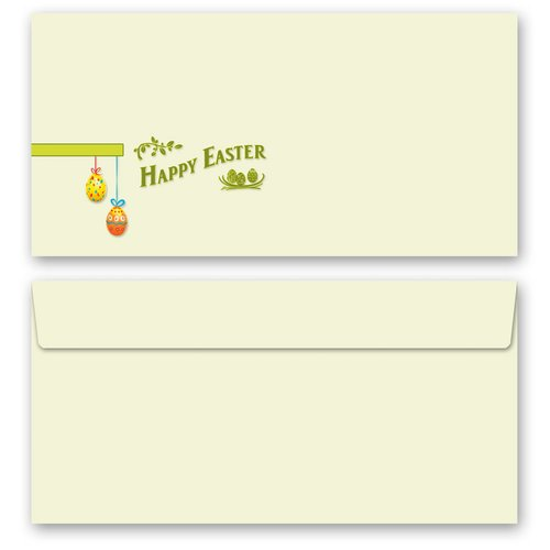Briefpapier Set HAPPY EASTER - 200-tlg. DL (ohne Fenster)