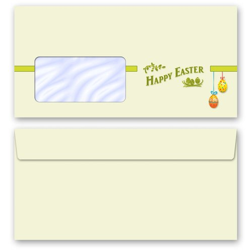 Briefpapier Set HAPPY EASTER - 200-tlg. DL (mit Fenster)