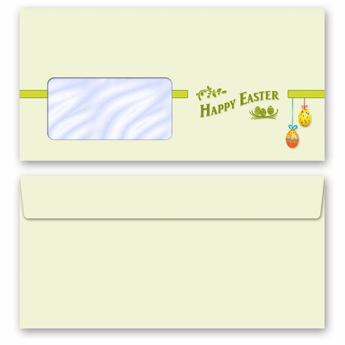 Briefpapier Set HAPPY EASTER - 40-tlg. DL (mit Fenster)