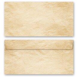 OLD PAPER 50 patterned envelopes in standard DIN long format windowless
