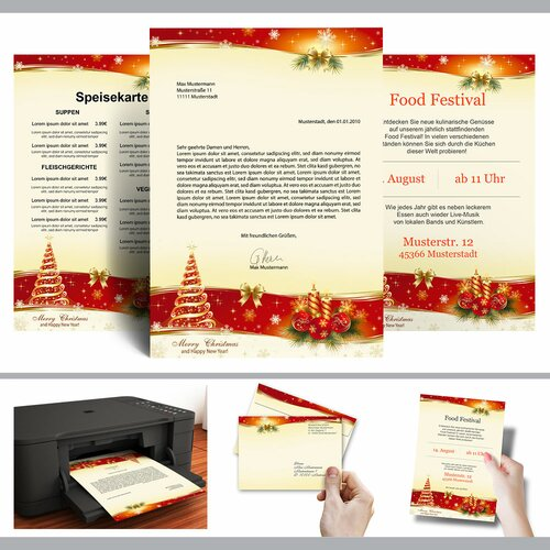 Motif Letter Paper! PEACEFUL CHRISTMAS