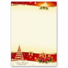 Motif Letter Paper! PEACEFUL CHRISTMAS 20 sheets DIN A4