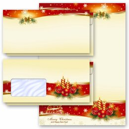 Motif Letter Paper-Sets PEACEFUL CHRISTMAS