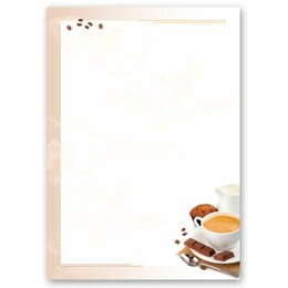 Motif Letter Paper! COFFEE WITH MILK 20 sheets DIN A4