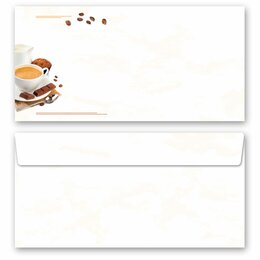 10 patterned envelopes COFFEE WITH MILK in standard DIN...