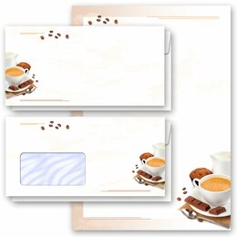 Motif Letter Paper-Sets COFFEE WITH MILK Invitation