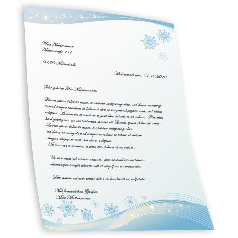 Briefpapier-Motiv VIER JAHRESZEITEN-WINTER 100 Blatt A4
