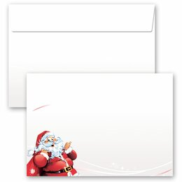 10 patterned envelopes LETTER TO SANTA CLAUS in C6 format...