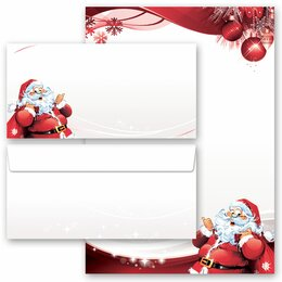 Briefpapier Set BRIEF AN DEN WEIHNACHTSMANN - 20-tlg. DL...