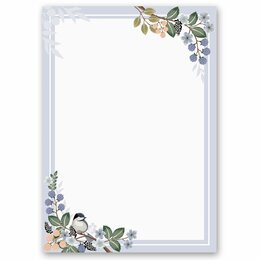 Motif Letter Paper! SPRING BRANCHES  50 sheets DIN A4
