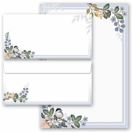 20-pc. Complete Motif Letter Paper-Set SPRING BRANCHES