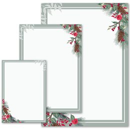 Motif Letter Paper! WINTER BRANCHES Winter motif