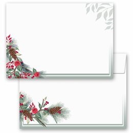 25 patterned envelopes WINTER BRANCHES in C6 format...