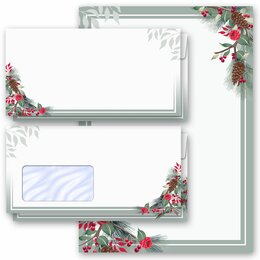 Motif Letter Paper-Sets WINTER BRANCHES Winter motif