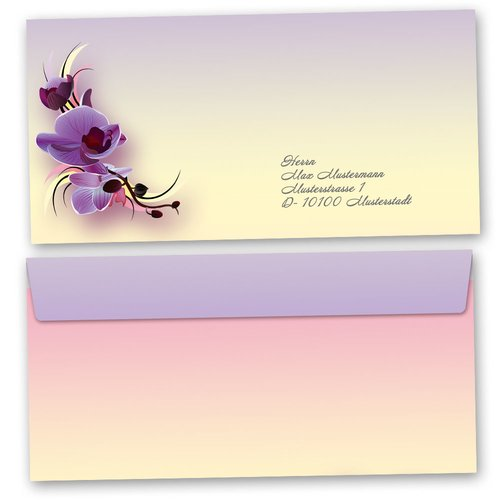 Motif envelopes! ORCHID BLOSSOMS
