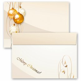 10 patterned envelopes HAPPY HOLIDAYS in C6 format...