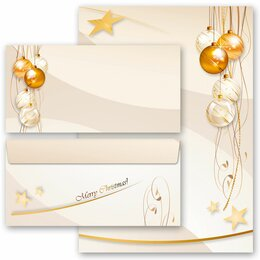 20-pc. Complete Motif Letter Paper-Set HAPPY HOLIDAYS