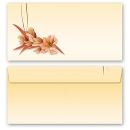 10 patterned envelopes FLOWER PETALS in standard DIN long...