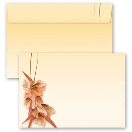 10 patterned envelopes FLOWER PETALS in C6 format...