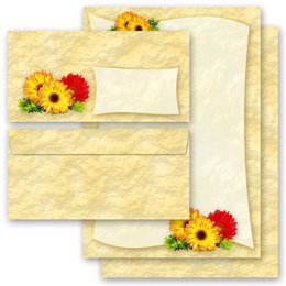 Motiv-Briefpapier-Sets GERBERA