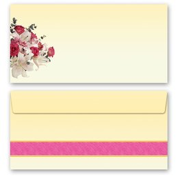 10 patterned envelopes CONGRATULATIONS in standard DIN...