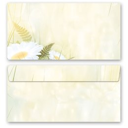 10 patterned envelopes DAISIES in standard DIN long...