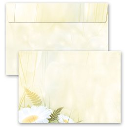 10 patterned envelopes DAISIES in C6 format (windowless)