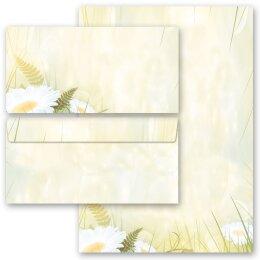 Set ohne Fenster DL Motiv-Briefpapier-Set MOHNBLUMEN 40-tlg