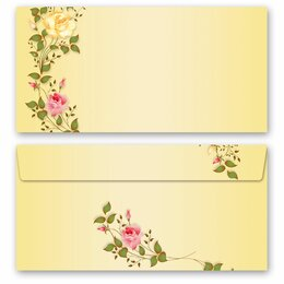 10 patterned envelopes ROSES TENDRILS in standard DIN...