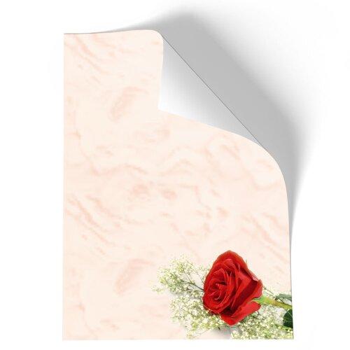 Motiv-Briefpapier BACCARA ROSEN DIN A5 Format 50 Blatt