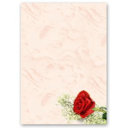 Motif Letter Paper! RED ROSE 20 sheets DIN A4