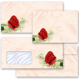 Motif envelopes! RED ROSE