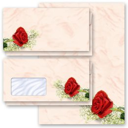 Motif Letter Paper-Sets RED ROSE