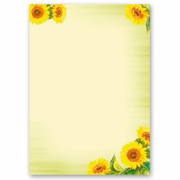 Motif Letter Paper! SUNFLOWERS 20 sheets DIN A4