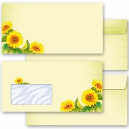 Motif envelopes! SUNFLOWERS