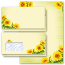 Motif Letter Paper-Sets SUNFLOWERS