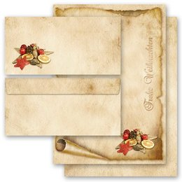 Briefpapier-Sets ALTES WEIHNACHTSPAPIER (Variante A) DL...