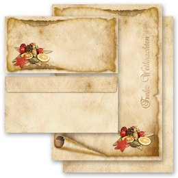 Briefpapier-Sets ALTES WEIHNACHTSPAPIER (Variante B) DL...