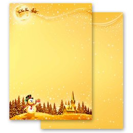 Motif Letter Paper! FESTIVE WISHES 20 sheets DIN A4