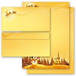 20-pc. Complete Motif Letter Paper-Set FESTIVE WISHES