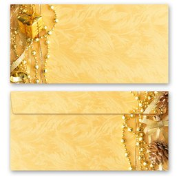 10 patterned envelopes MERRY CHRISTMAS in standard DIN...