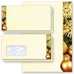 Motif Letter Paper-Sets HAPPY CHRISTMAS