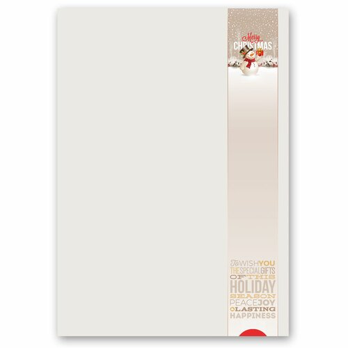 Briefpapier HAPPY HOLIDAYS - DIN A5 Format 250 Blatt