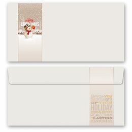 10 patterned envelopes HAPPY HOLIDAYS - MOTIF in standard...