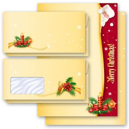 Motiv-Briefpapier-Sets SANTA CLAUS