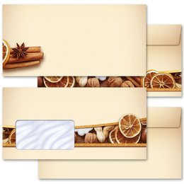 Motif envelopes! CHRISTMAS NUTS AND ORANGES