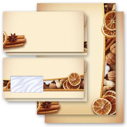 PERGAMENT ohne Fenster DL Motiv-Briefpapier-Set 40-tlg